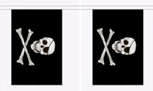 Pirate Skull And Crossbones Jolly Roger Flag 3m Bunting